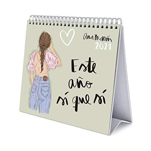 ERIK - Calendario de Escritorio 2021 Ana Marín, 17x20 cm