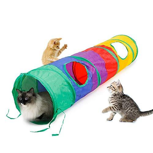 Gaocunh Túnel del gato, Mascota Agilidad Equipo de Túnel de Entrenamiento del Gato Jugar Run Jump Obedience Herramienta de Entrenamiento ✅