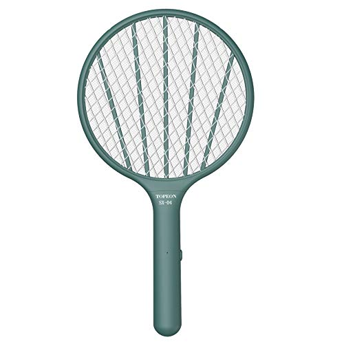 Bug Zapper Electric Fly Swatter,Handheld Mosquito Zapper Killer,3000volt Insect Fly Trap,Fly Zapper Racket for Indoor and Outdoor Pest Control (Green)