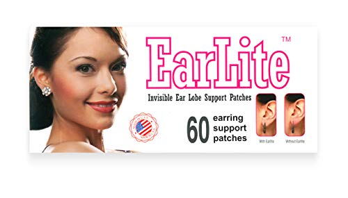 EarLite - Parches invisibles para pendientes, 60 unidades