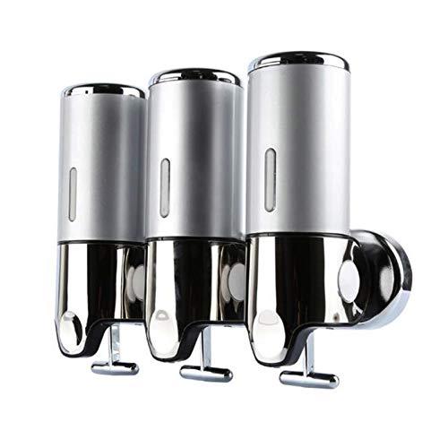 Dispensador de jabón para fijación en la pared, dispensador de jabón de manos para cocina, baño, champú y gel de ducha (1500 ml)