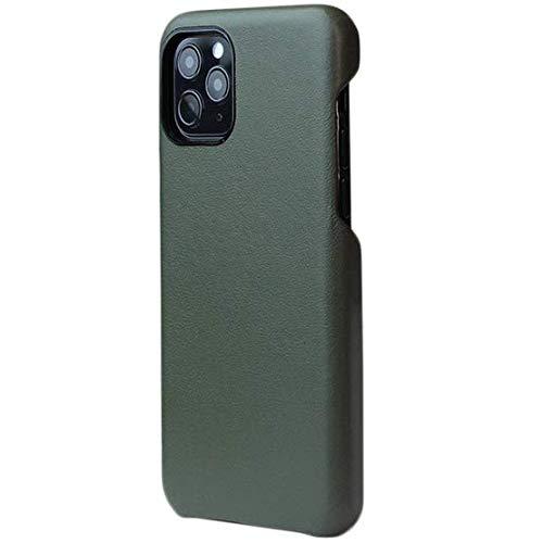 Case para iPhone 11 Pro Max - Couro Legítimo - Feito à Mão no Brasil - Verde