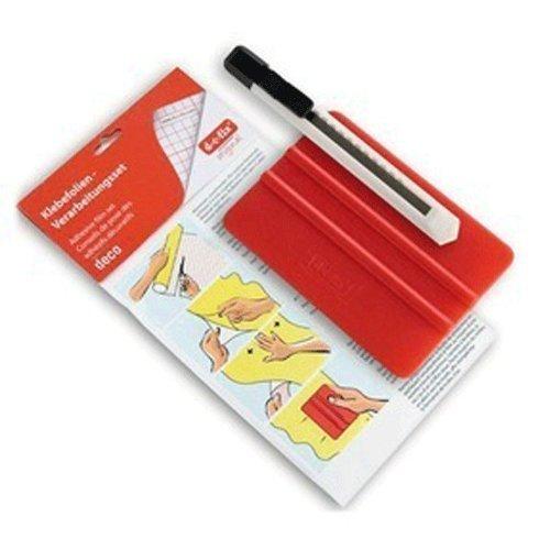 2 X d-c-fix® Applicatieset voor het aanbrengen van zelfklevende folie (incl. gladder voor vlekkeloze afwerking & mes om te snijden)