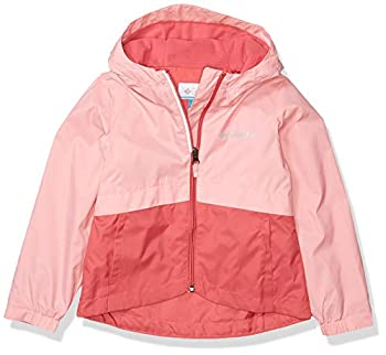 Columbia Little Girl s Rain-Zilla Jacket Waterproof Reflective Outerwear Rouge Pink/Pink orchid X-Small