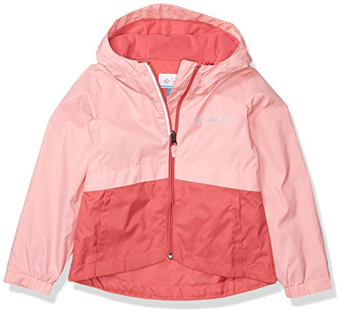 Columbia Big Girl's Rain-Zilla Jacket, Waterproof, Reflective Outerwear, Rouge Pink/Pink orchid, Large