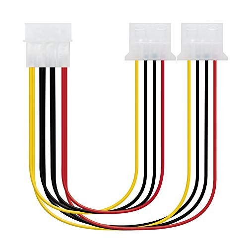 NANOCABLE 10.19.0401 - Cable Alimentación 2xMOLEX Macho a 1xMOLEX Hembra, 4pin/M-2xMOLEX 4pin/H,...