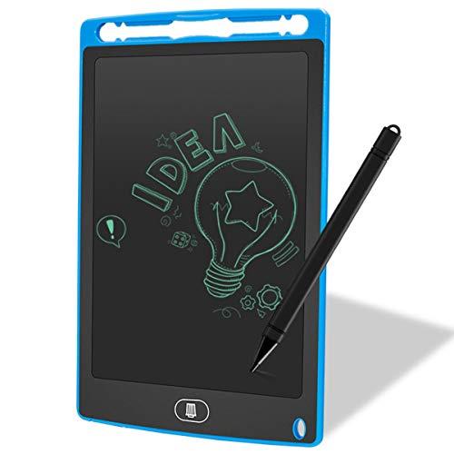 Jinxuny LCD-bureaublad 12 inch (ABS-beeldscherm, digitaal, ultradun, draagbaar schrijf- en tekenplank, papierloze handschrift, lichtgewicht tablet voor kinderen, thuis, schoolkantoor (zwart) 8.5inch blauw