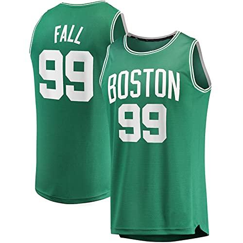YDJY Hombres Otoño Al Aire Libre Baloncesto Jersey Celtic Secado Rápido Camisetas #99 Verde Sportswear