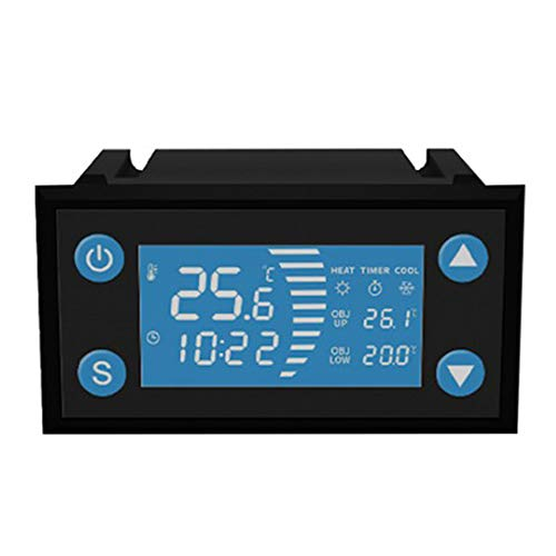 Nrpfell W1213 AC 110-220V Controlador de Temperatura Inteligente LCD Termostato Digital Temporizador Sensor Sonda Modo de Calor FríO