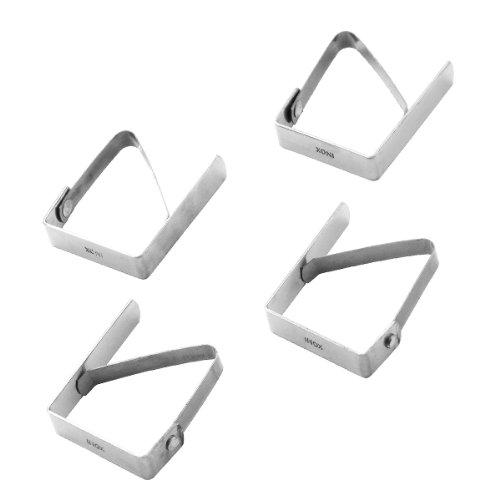 Pedrini Gadget Molla Fermatovaglia, Acciaio Inossidabile, Argento, 25x9x1.5 cm, 4 unità