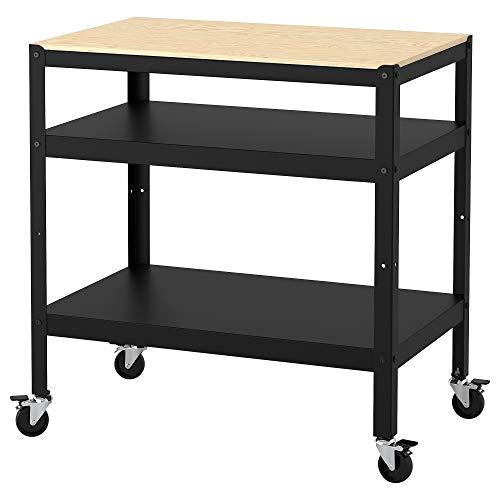 IKEA BROR Servierwagen in schwarz; auch für Feuchträume; (85x55cm)