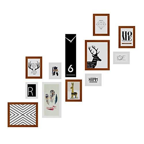 GST Foto De La Pared Marcos Marco de Imagen Escalera de Pared Combinación de Pared Mural Mural Colgante Marco Pinturas Relojes de Pared Pasillo Foto Decoración de la Pared Pinturas