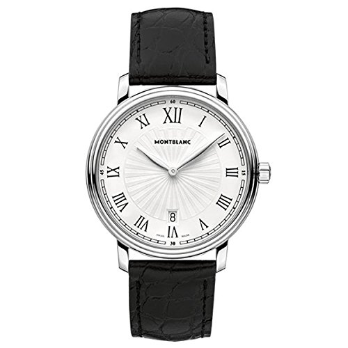 Montblanc Watches Reloj Analógico para Hombre de Cuarzo con Correa en Cuero 112633