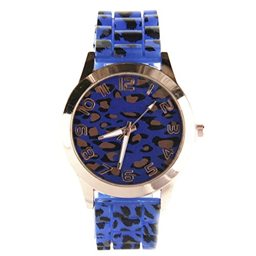 Reloj Geneva para mujer, diseño de leopardo