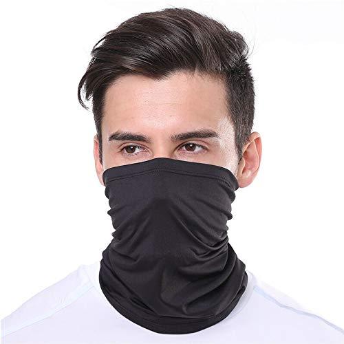 KunSTIFY | Scaldacollo multifunzione | Bandana da uomo e donna | Scaldacollo tubolare protezione naso maschera maschera protezione solare in cotone | elastico traspirante lavabile (nero)