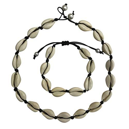 SSUPLYMY Shell Choker Halskette - natürliche Kauri Muschel Perlen handgemachte Sommer Strand Halsketten für Mädchen natürliche Süßwasser Sea Shell Choker Halskette für Frauen Shell