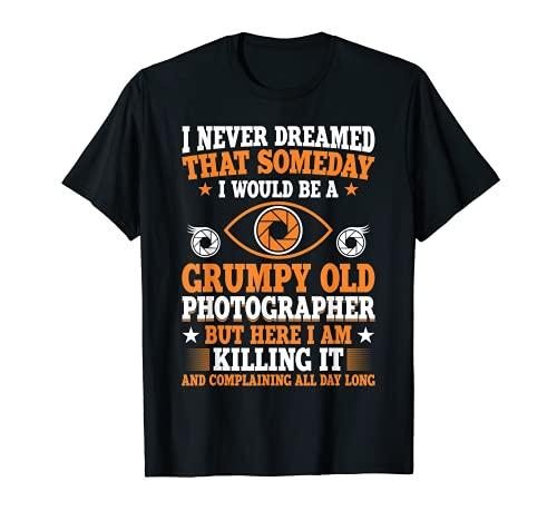 Grumpy Viejo Fotógrafo Fotografía Cámara Fotografía Regalo Camiseta