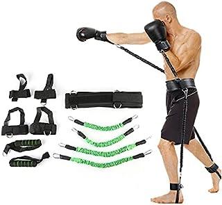 Studstränare fitness motstånd band boxningsdräkt latex rör spänningsrep ben midjetränare, vikt: 54,4 kg lijiaxin