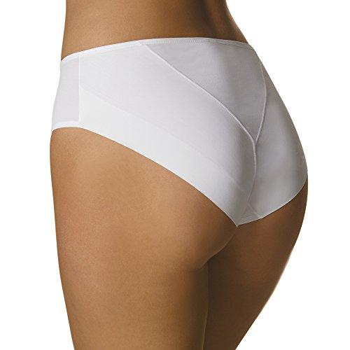 LOVABLE Invisible Slip Midi, Mutande da Donna, Bianco (White 003), 4/L