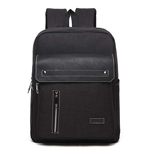 Laptop Bag, Universal Multi-Function Oxford Cloth Laptop Computer Shoulders Bag Business Backpack Students Bag, Size: 39x30x12cm, Portable Notebook Computer Carrying Case Bag (Color : Black)