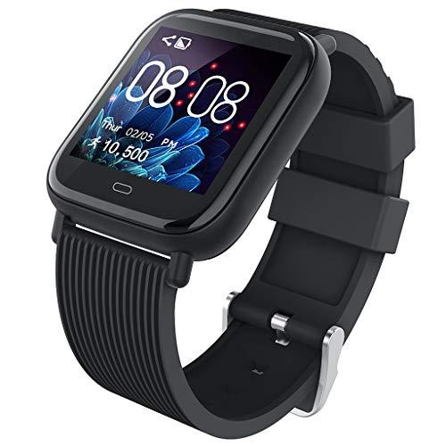 Smartwatch Damen Fitness Armbanduhr Mit Vollem Touch Screen wasserdichte IP67 Eignungs-TäTigkeits-Verfolger-Impuls-UhrenMit KalorienzäHler Schlaf Monitor Für Frauen MäNner Kompatibel mit IOS Android