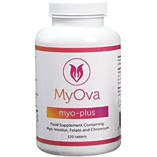 MyOva Myo-Plus natural supplement for PCOS 4000mg Myo-Inositol + 200ug Folate + 100ug Chromium | Promotes hormonal balance & normal ovarian function | Chromium contributes to normal macronutrient metabolism & the maintenance of normal blood glucose levels | 30 days supply, 120 tablets | MADE IN THE UK:Greatestmixtapes