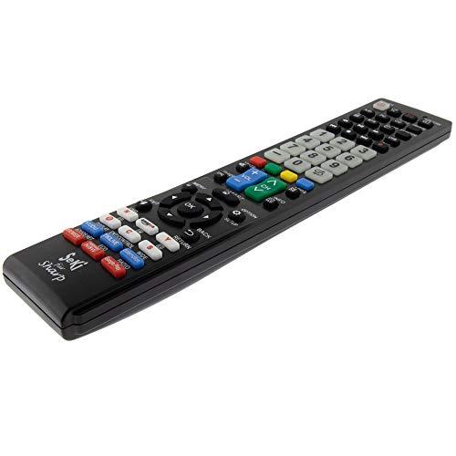 SeKi Fernbedienung passend für Sharp - Funktioniert mit Allen Sharp Geräten (TV, Fernseher Smart TV, DVD, LED TV und 4K), mit zusätzlicher Lernfunktion