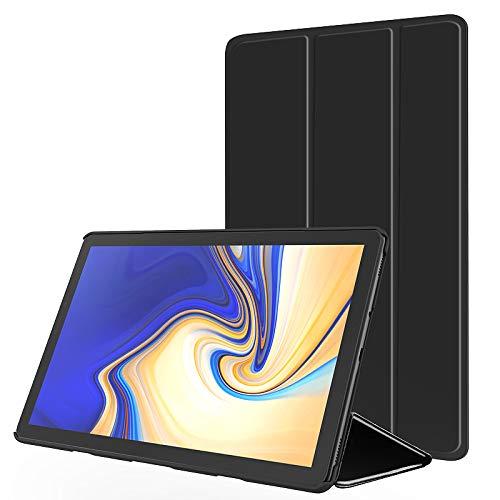 Slabo Tablet Hülle Hülle für Samsung Galaxy Tab A 10.5 SM-T590 | T595 (2018) Schutzhülle Auto Sleep Wake Funktion & Magnetverschluss - SCHWARZ