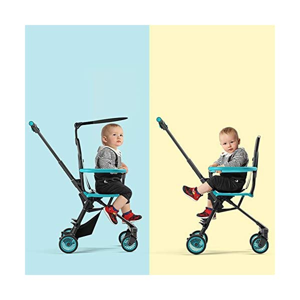 Makeups Foldable Portable Lightweight Baby Stroller Two Way Driving Baby Carriage Multipurpose Portable Baby Cart Adjustable Newborn Baby Crib Shock Absorption Can Sit Reclining Stroller Makeups Size: suitable from birth to 25 kg, length: 50.8 cm, width: 33 cm, height: 88 cm. Fold: 33cm * 16cm * 76cm. Ideal for plane, adapt to any car trunk. Designed with seat belt, non-slip grip, Top umbrella, seat cushion, bottom storage basket, all this will offer you great comfort. The stroller is equipped with adjustable belts to prevent the baby from falling. Have foot control brakes to stop at any time. 1