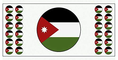 Jordanien-Flagge – Poster – Party-Dekoration – Feier – Event – Weltmeisterschaft (2 Stück)