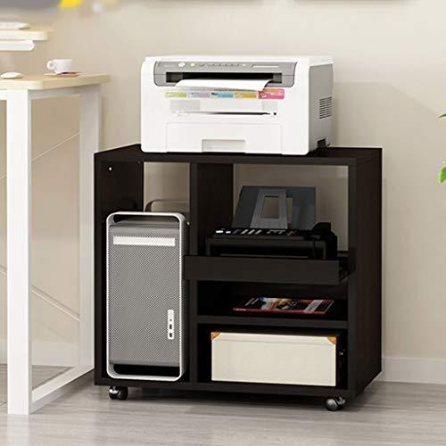 Escáner Estante Almohadillas Estante de madera impresora doméstica de almacenamiento extraíble Libros y Revistas en rack de archivos de almacenamiento de escritorio Caja CPU del ordenador rack Oficina