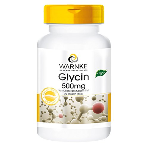 Glycin 500mg - hochdosiert & vegan - 90 Kapseln - Aminosäure