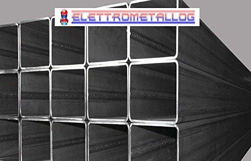 BARRA PROFILO SCATOLATO QUADRO IN FERRO LUNGHE 3 METRI (20x20x2 mm)