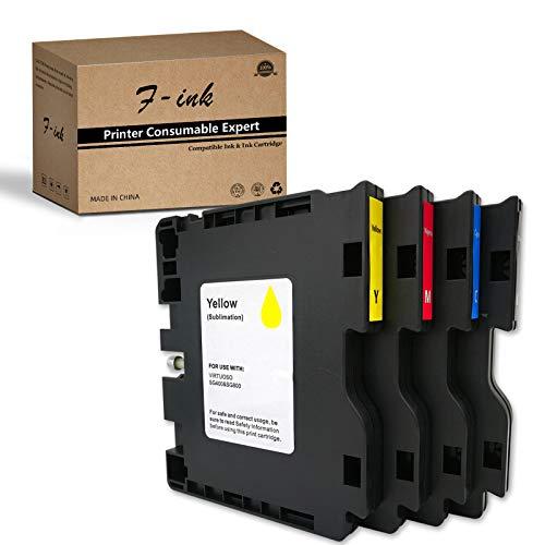 F-INK 4 cartuchos de tinta de sublimación compatibles con Sublijet Sawgrass Virtuoso SG400 y SG800, 4PK Sublimación cartuchos de tinta