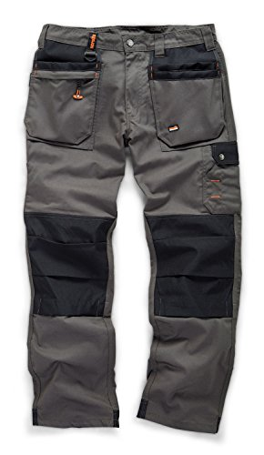 Scruffs Worker Plus Multi Pocket Grey Work Trousers Various Sizes...