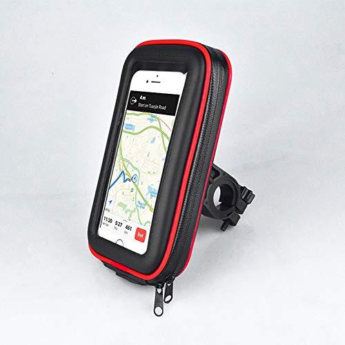 Bolsa Bici con Soporte para Telefono Móvil,360 Grados Rotación Soporte Móvil,El Soporte Impermeable del Teléfono Móvil Puede Ser Pantalla Táctil,para Teléfonos Inteligentes De 3.5 A 6.2 Pulgadas