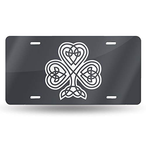 HCNNZM7 Celtic Shamrock Car License Plate Retro License Plates Decorative Front Plate 6' x 12' inch