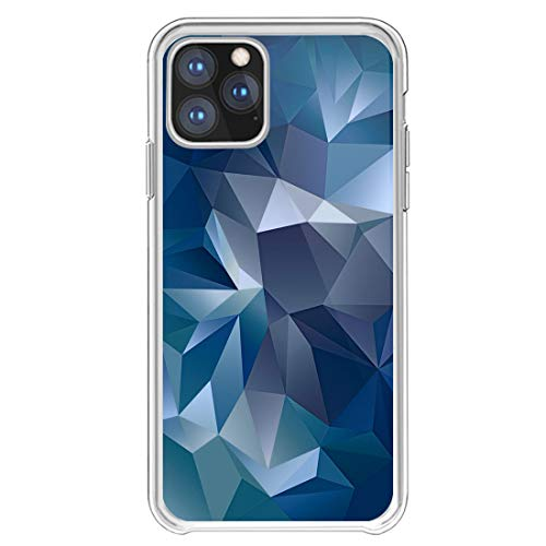 Ruiyoupin Compatibel met iPhone 11 Pro Max 6.5'' Cover, marmer retro naden, slim dun dun beschermhoesje transparant silicone schokbestendig TPU bumper caso schokabsorptie