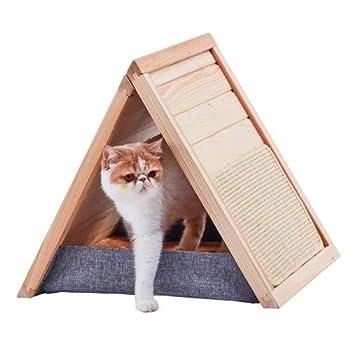 CROCI PAVILLON DESIGN, Dome pour chat, Corbeille Chat, Maison Chat, Dimensions 55x46x47cm