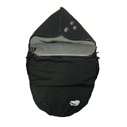 Bebe Confort Creatis/Streety saco de abrigo impermeable con nacaradas color negro y gris