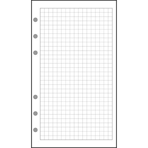 Exacompta - 18111E - Accessoire de recharge perforée - Feuillets Quadrillé 5x5 - Organiseur Exatime 17 - 10,5 x 17,2 cm - 44 Feuillets - Papier Blanc