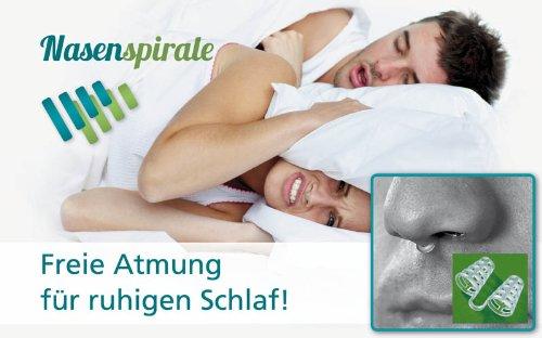 ISOTRONIC Anti-Schnarch Nasenspirale (10er Set), Schnarch-Stopper als Schlafhilfe und für freie Atmung beim Sport, gut geeignet auch bei Erkältungen und Allergien, mit Aufbewahrungsbox