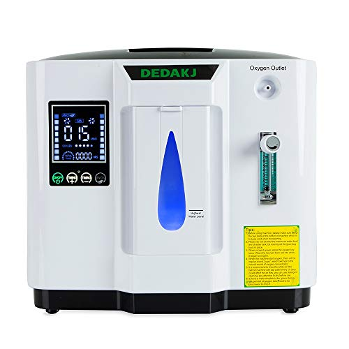SG |Oxygen Concentator DEDAKJ 1 Ltr | Free Promotional Gifts & Warranty Only by Seller'SpiceStyle Powered By SpiceJet Ltd.'- Gifts Include Extra 2 Air Filters, Foam Dispenser & Mist Sprayer