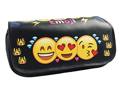 Fulinmen Lindas Bolsas de lápiz Emoji para la Escuela Kawaii Funda de lápiz Pen Bouch Papelería Suministros Escolares de Office