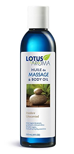 Lotus Aroma Unscented Massage Oil , 120 ml (Pack of 1)