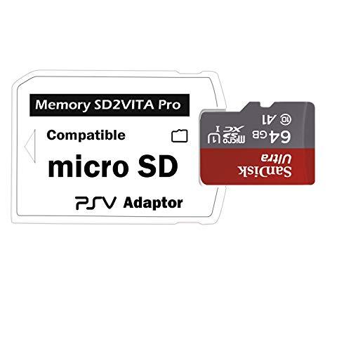 LEAGY Adattatore per Scheda di Memoria SD2Vita 5.0 Ultima Versione, Adattatore Micro SD PSVSD PS Vita per PSV 1000/2000 PSTV FW 3.60 Sistema HENkaku Enso