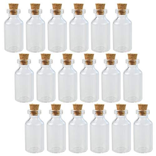 Botellas de vidrio de corcho para decoración de manualidades, mini botellas de vidrio, tarros de muestra, pequeños viales, corcho, pequeño mensaje botella de vidrio con tapones...