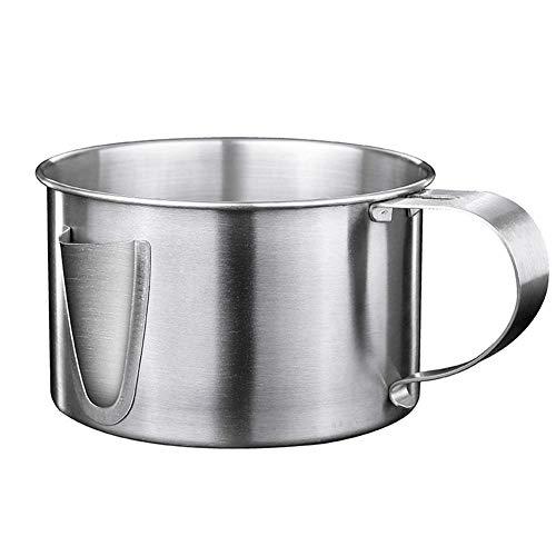 luckything Fetttrennkanne, 304 Edelstahl Fettabscheider Kanne/ölabscheider/Suppe Sieb Soße Schüssel Für Das Abschöpfen Von Fett Aus Soßen Und Suppen