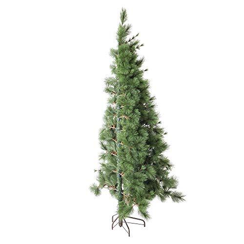 Medio árbol de Navidad Artificial de Pared con 288 Ramas Verde de Fibra plástica de 180 cm - LOLAhome