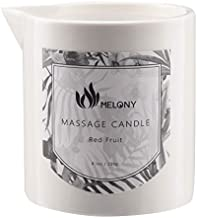 MELONY Massage Candle, Moisturizing, Body Oil Candle, Natural Soybeans, 8.1 oz, Red Fruit